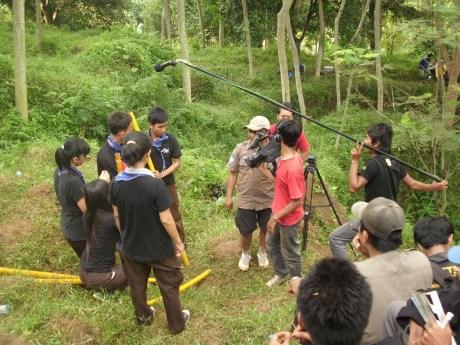 Suasana Syuting KSb di Hutan Cijati